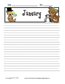 Writing Work Stations Lined Paper