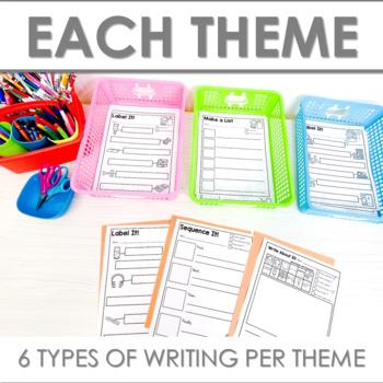 Writing Center | Kindergarten and 1st grade AUGUST and SEPTEMBER