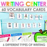 Writing Center   Kindergarten and 1st grade AUGUST and SEPTEMBER