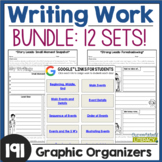 Writing Work Literacy Centers Bundle