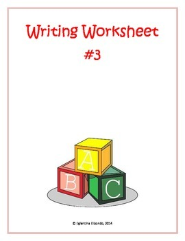Writing Worksheet #3 (English)