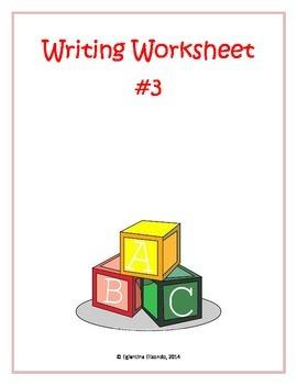 Writing Worksheet #3 (English)