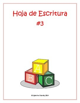 Writing Worksheet #3 (Spanish)