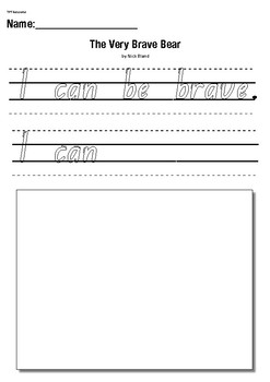 The Very Brave Bear by Nick Bland- Text to self- Comprehension Writing Activity