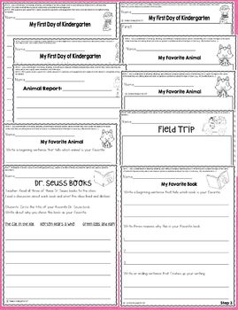 Writing Worksheets / Activities for Kindergarten Common Core