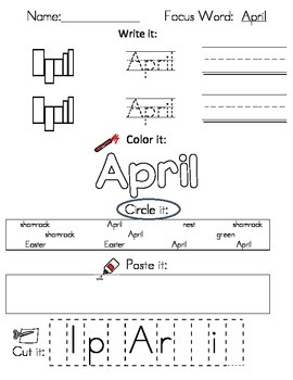 Writing Worksheets - March and Spring