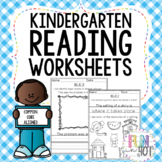Kindergarten Reading Worksheets aligned to Common Core Sta