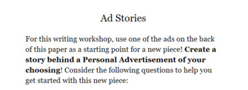 Writing Workshop -- Ad Stories