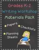 Writing Workshop All Year K-2 Materials Bundle