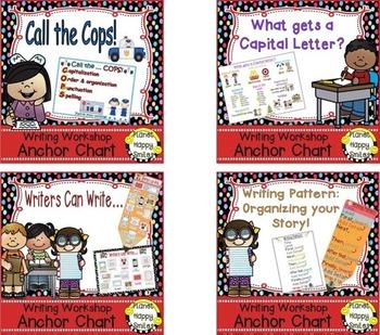 Writing Workshop Anchor Chart Bundle ~ Part 1
