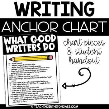 What Good Writers Do Poster (Writing Anchor Chart)