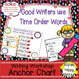 "Writing Workshop Anchor Chart - ""Good Writers use Time Order Words"""