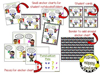 """Writing Workshop Anchor Chart - """"Punctuation Pals"""""""