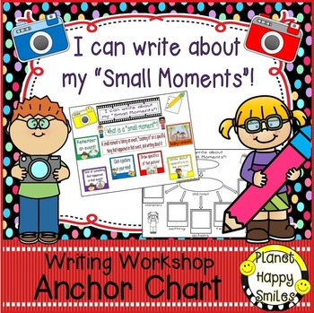 "Writing Workshop Anchor Chart - ""Small Moment Writing"""