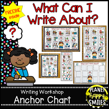 """Writing Workshop Anchor Chart - """"What can I write about?"""""""