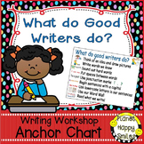 """Writing Workshop Anchor Chart - """"What do good Writers do?"""""""