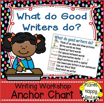"Writing Workshop Anchor Chart - ""What do good Writers do?"""