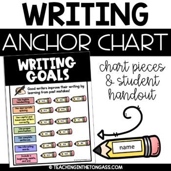 Writing Goals Poster (Writing Anchor Chart)