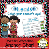 "Writing Workshop Anchor Chart - ""Writing Leads to catch the Reader's eye"""