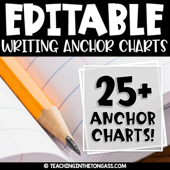 EDITABLE Writing Workshop Anchor Charts BUNDLE (Writing Anchor Charts)