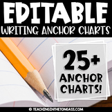 Writing Posters | EDITABLE Writing Anchor Charts BUNDLE