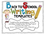 Writing Workshop: Back to School Launch