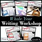 Writing Workshop Mini Lesson Activities Whole Year Bundle Grade 8 Virtual Print