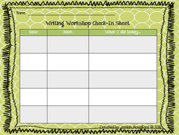 Writing Workshop Check-In