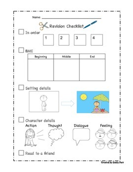 Writing Workshop Checklists and Reference Posters for Young Writers