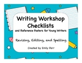 Writing Workshop Checklists and Reference Posters for Youn
