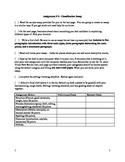 Writing Workshop - Classification Essay