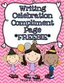 Writing Workshop Compliment Page FREEBIE!