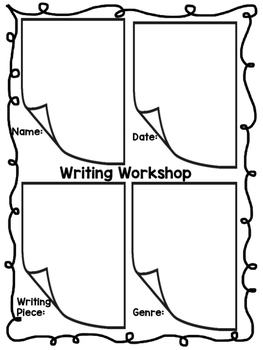 Writing Workshop Conference Checklists- Kindergarten