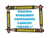 Writing Workshop Labels - Grade 1