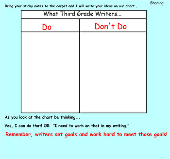 Writing Unit 1: Crafting True Stories Grade 3 Lessons 1-19 SMART