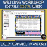 Writing Workshop: DIGITAL Editable Rubric