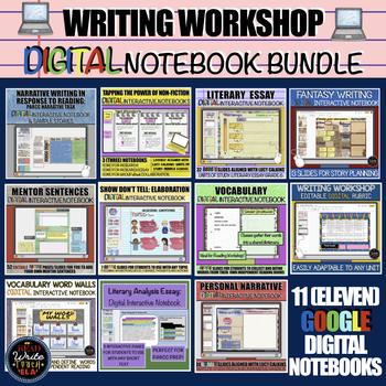 Writing Workshop: DIGITAL Interactive Notebooks BUNDLE