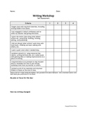 Writing Workshop Daily Self Assessment