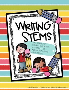Writing Workshop Daily Thinking Stems Log