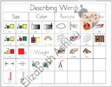 Writing Workshop Describing Words Chart Set #2