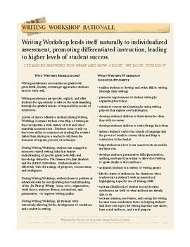 Writing Workshop Desktop Guides