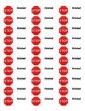 Writing Workshop Folder Labels Stop and Go