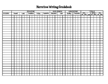Writing Workshop Gradebook and Small Group Sorting Template