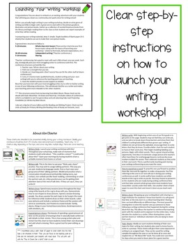 Launching the Writing Workshop in Kindergarten and First Grade