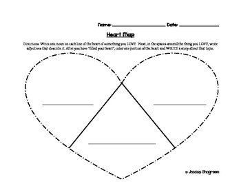 Writing Workshop Heart Map