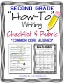 Writing Workshop How-To Writing Second Grade Checklist and