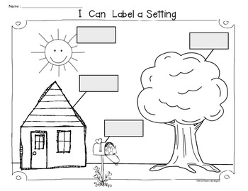 Writing Workshop Freebie  {I Can Label a Setting}