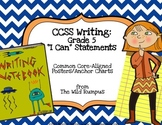 """Writing Workshop: """"I Can"""" Statements for the Common Core {"""
