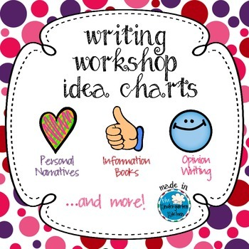 Writing Workshop Idea Charts