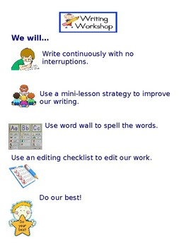 Writing Workshop Independent Work Expectations